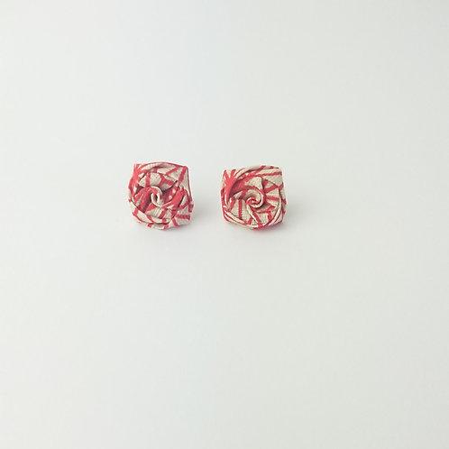 Boucles d'oreilles puce Mini Camélia