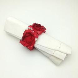 Rond de serviette origami en tissu