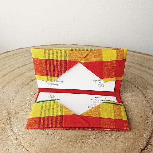 Porte-cartes zouk rouge