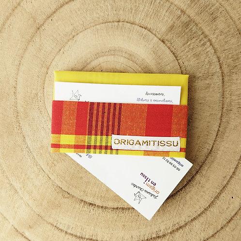 Porte-cartes zouk jaune