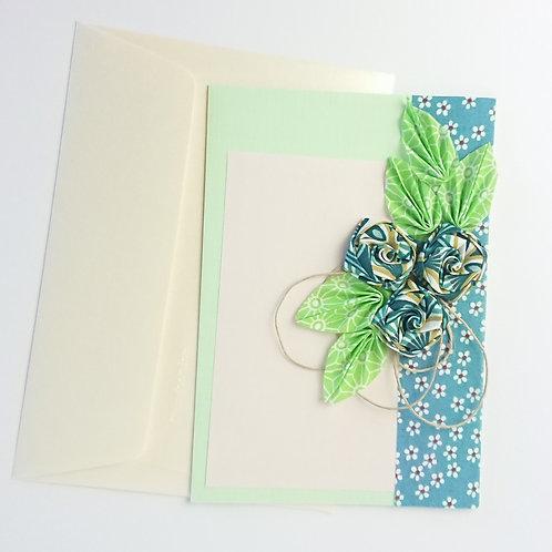 Cartes de vœux floral vert