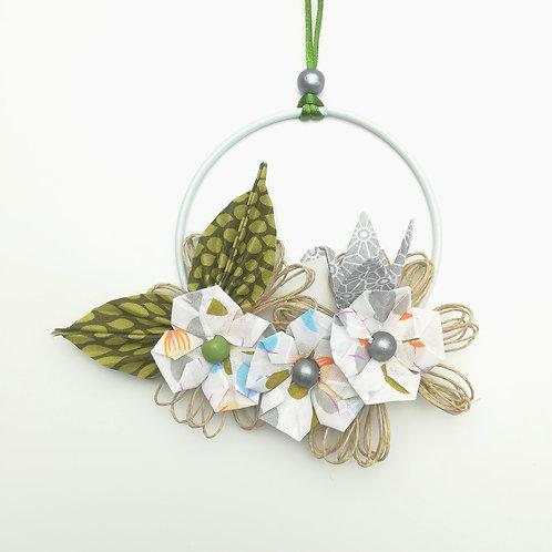 Couronne fleurs d'automne - 10 cm