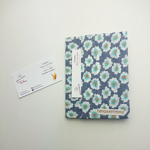 Protège-carnet origami tissu