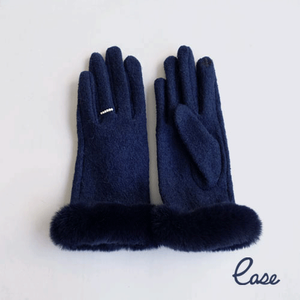 フェイクファー手袋