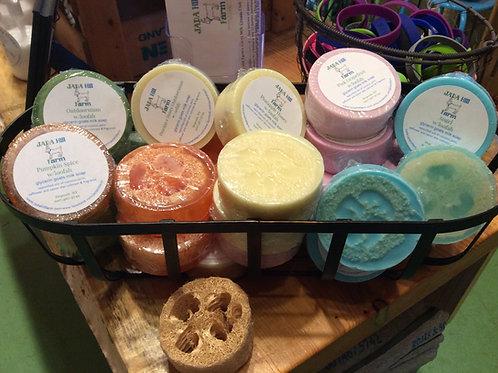glycerin goats milk soap w/loofah