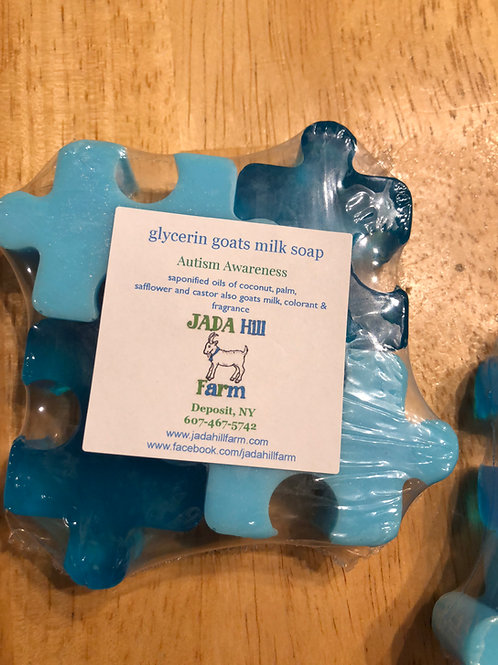 Autism Awareness glycerin goats milk soap