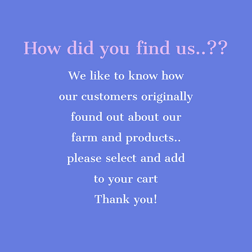 How did you find us??