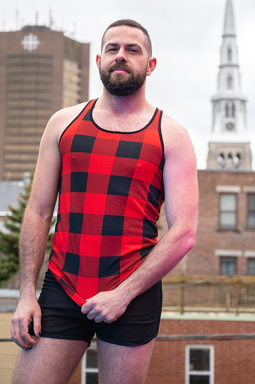 TANK TOP RED PLAID