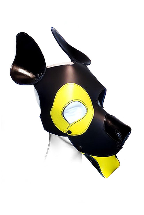EYE PATCH LEATHER PUPPY HOOD