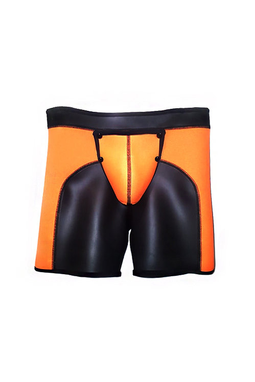 NEOPRENE SHORTS WITH REMOVABLE POUCH