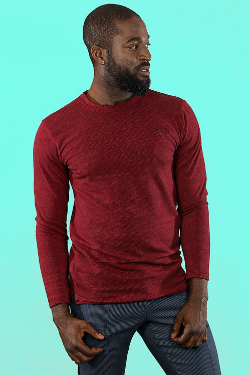 LONG SWEATER BURGUNDY