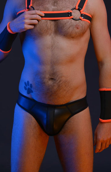 BLACK NEOPRENE JOCK