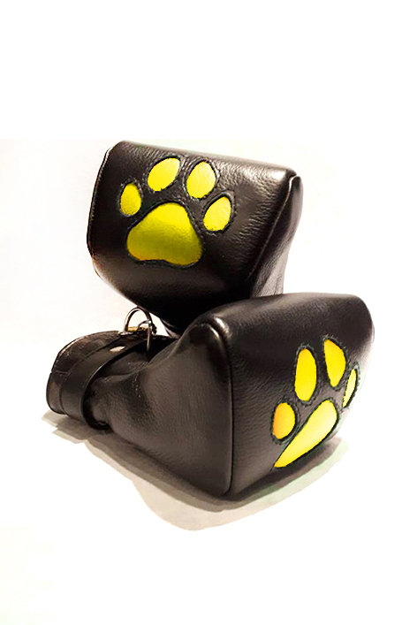 LEATHER PUP MITTS