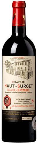 CHÂTEAU HAUT-SURGET – LALANDE-DE-POMEROL– 38.74$- la btle (cs-6)