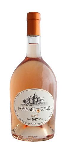 CH. DE LA GRAVE HOMMAGE ROSÉ CÔTES DE BOURG -  la bouteille (cs-6)