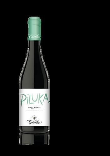 "CAROBBIO -PINOT BIANCO TOSCANA IGT  ""PILUKA"" -  la bouteille (cs-6)"