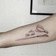 Snowdrop flower tattoo by Leo #dallastat