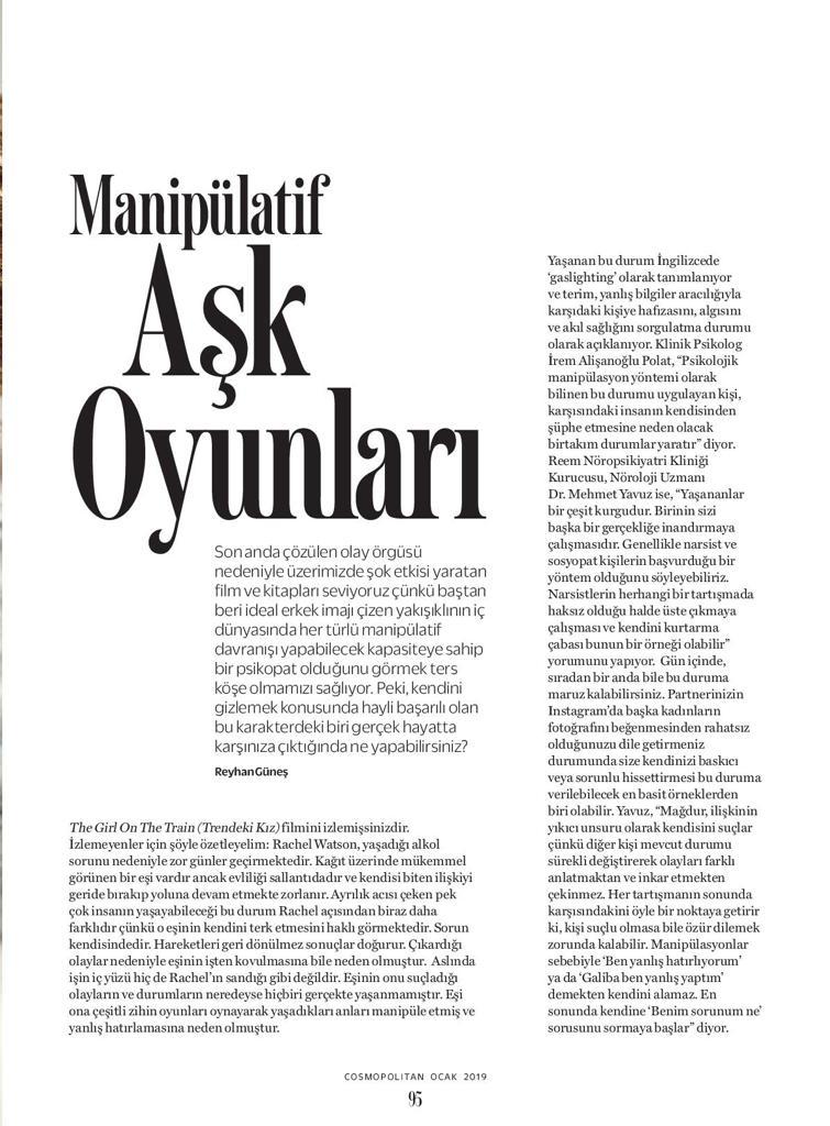 Aşk Oyunları, Cosmopolitan