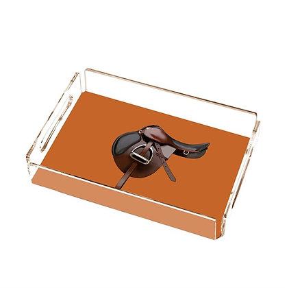 Orange Equestrion Pleksi Tepsi