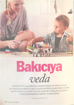 Bakıcıya Veda, Bebeğim Dergisi