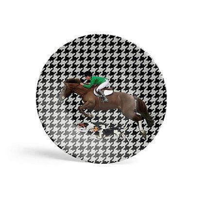 EquestrianYeşil Ceketli Duvar Tabağı