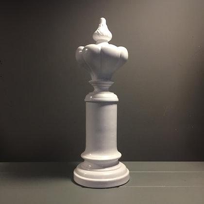 Polyester Şah Obje Beyaz