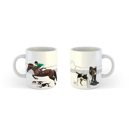 Equestrion Yeşil Ceketli Köpekli Seramik Kahve Kupası