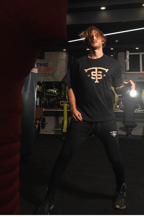 USA Oversize T-Shirt Black B Gold