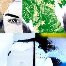 collage afiches rasgados SCL