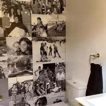 foto collàge baño visita quincho / La Serena