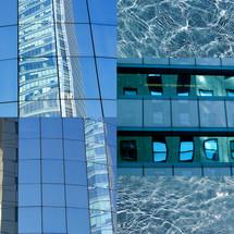 collage azul