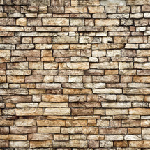muro de piedras café