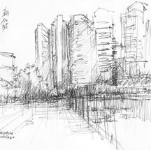 dowtown Singapur by Fernando Guarello