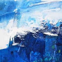 azul en movimiento