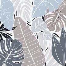 hojas grises