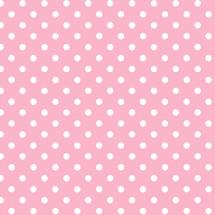 puntos blanco & rosado