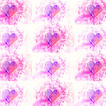 corazones magenta