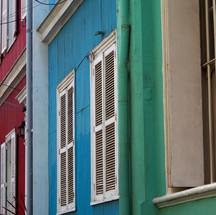 fachadas de colores Valparaíso