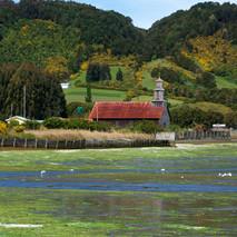 iglesia en marea baja