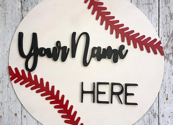 Baseball/Softball Sign with Players Name