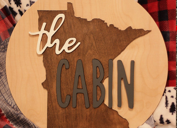"""State Cabin Sign - 24"""""""