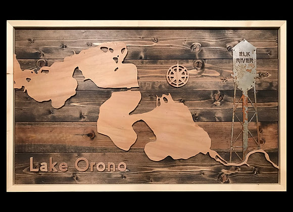 Lake Orono Map with Water Tower