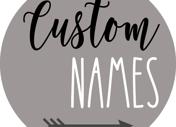 "24"" Name Sign with Accent ""F"""