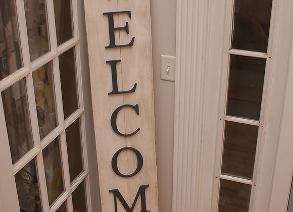 Welcome Sign - with 3D letters