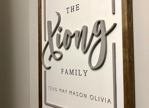 Rectangular Family Sign
