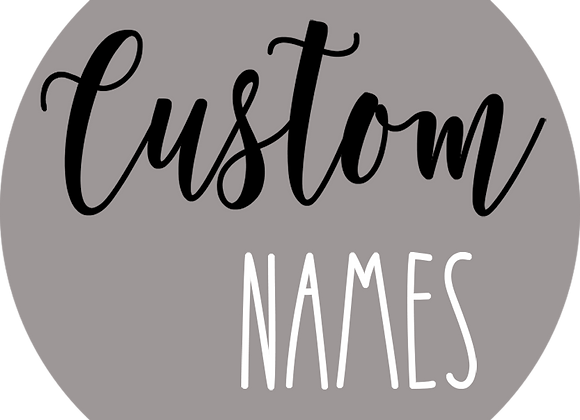 "18"" Name Sign with No Accent"