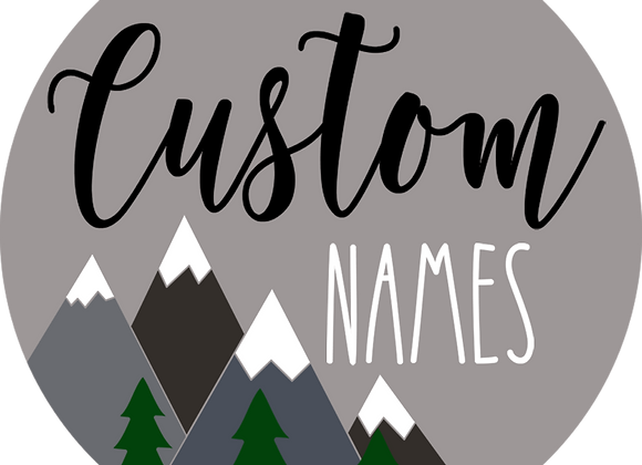 "18"" Name Sign with Accent ""D"""