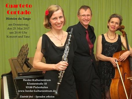Tango-Ensemble Cuarteto Cortado konzertiert im Herder-Kulturzentrum