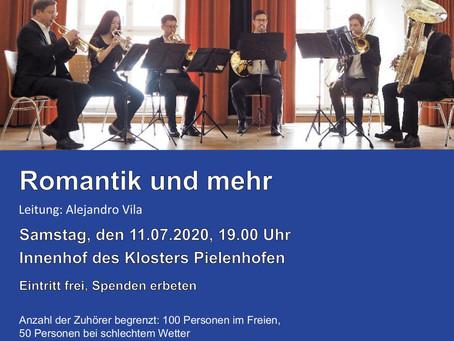 Konzert der Bläserphilharmonie Regensburg am 11.7.20