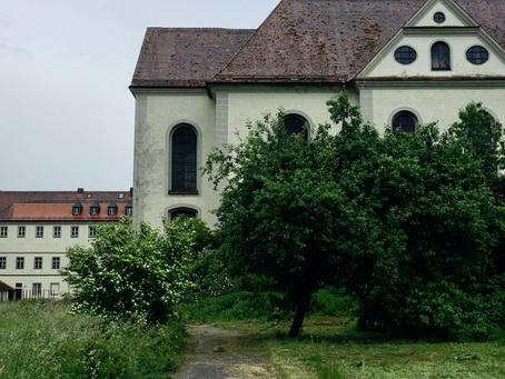 Selbst an Regentagen wildromantisch - unser Klostergarten wird in Form gebracht